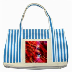 Abstract Shiny Night Lights 9 Striped Blue Tote Bag