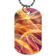 Abstract Shiny Night Lights 10 Dog Tag (two Sides) by tarastyle