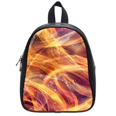 Abstract Shiny Night Lights 10 School Bag (small) by tarastyle
