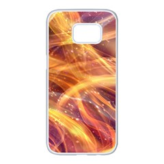 Abstract Shiny Night Lights 10 Samsung Galaxy S7 Edge White Seamless Case by tarastyle