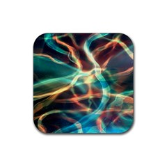 Abstract Shiny Night Lights 11 Rubber Coaster (square)  by tarastyle
