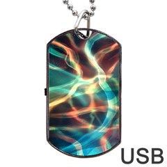 Abstract Shiny Night Lights 11 Dog Tag Usb Flash (one Side) by tarastyle