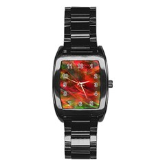 Abstract Shiny Night Lights 12 Stainless Steel Barrel Watch by tarastyle