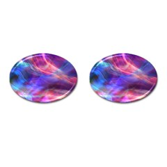 Abstract Shiny Night Lights 14 Cufflinks (oval) by tarastyle