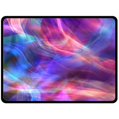 Abstract Shiny Night Lights 14 Double Sided Fleece Blanket (large)  by tarastyle