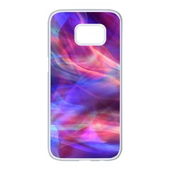Abstract Shiny Night Lights 14 Samsung Galaxy S7 Edge White Seamless Case by tarastyle