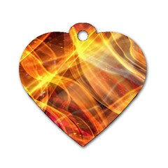 Abstract Shiny Night Lights 17 Dog Tag Heart (one Side)