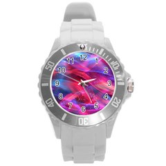 Abstract Shiny Night Lights 18 Round Plastic Sport Watch (l) by tarastyle