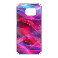 Abstract Shiny Night Lights 18 Samsung Galaxy S7 Edge White Seamless Case by tarastyle