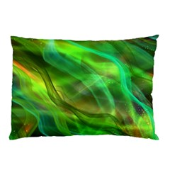Abstract Shiny Night Lights 21 Pillow Case by tarastyle