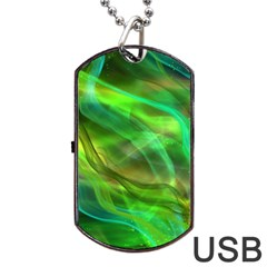 Abstract Shiny Night Lights 21 Dog Tag Usb Flash (two Sides) by tarastyle