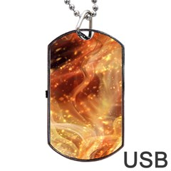Abstract Shiny Night Lights 22 Dog Tag Usb Flash (one Side) by tarastyle