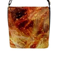 Abstract Shiny Night Lights 22 Flap Messenger Bag (l)  by tarastyle