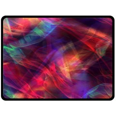 Abstract Shiny Night Lights 23 Double Sided Fleece Blanket (large)  by tarastyle