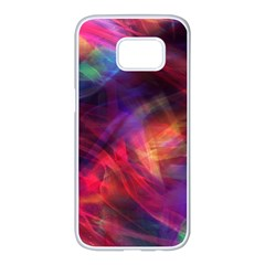Abstract Shiny Night Lights 23 Samsung Galaxy S7 Edge White Seamless Case by tarastyle