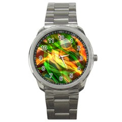 Abstract Shiny Night Lights 24 Sport Metal Watch by tarastyle