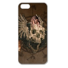 Awesome Creepy Skull With Rat And Wings Apple Seamless Iphone 5 Case (clear) by FantasyWorld7