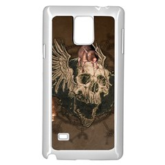 Awesome Creepy Skull With Rat And Wings Samsung Galaxy Note 4 Case (white) by FantasyWorld7