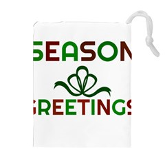 Season Greetings Drawstring Pouches (extra Large) by Colorfulart23