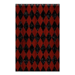 Diamond1 Black Marble & Reddish Brown Wood Shower Curtain 48  X 72  (small)  by trendistuff