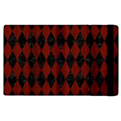 Diamond1 Black Marble & Reddish Brown Wood Apple Ipad 3/4 Flip Case by trendistuff