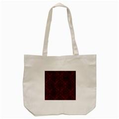 Damask1 Black Marble & Reddish Brown Wood Tote Bag (cream) by trendistuff