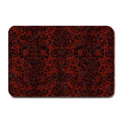 Damask2 Black Marble & Reddish Brown Wood Plate Mats by trendistuff