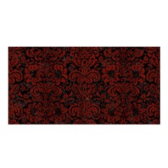 Damask2 Black Marble & Reddish Brown Wood (r) Satin Shawl by trendistuff