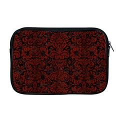 Damask2 Black Marble & Reddish Brown Wood (r) Apple Macbook Pro 17  Zipper Case by trendistuff