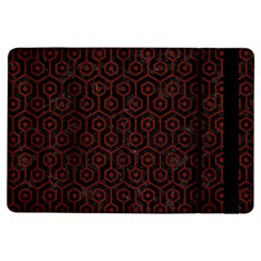 Hexagon1 Black Marble & Reddish Brown Wood (r) Ipad Air Flip by trendistuff