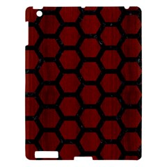 Hexagon2 Black Marble & Reddish Brown Wood Apple Ipad 3/4 Hardshell Case by trendistuff
