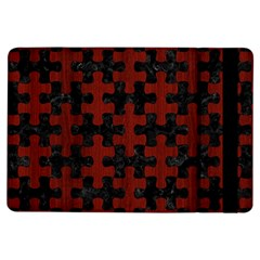 Puzzle1 Black Marble & Reddish Brown Wood Ipad Air Flip by trendistuff