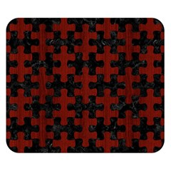 Puzzle1 Black Marble & Reddish Brown Wood Double Sided Flano Blanket (small)  by trendistuff