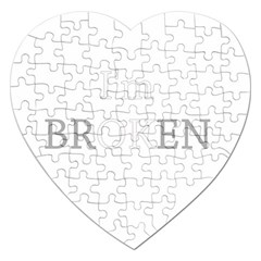 I Am Ok   Broken Jigsaw Puzzle (heart) by Valentinaart