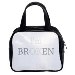 I Am Ok   Broken Classic Handbags (2 Sides) by Valentinaart