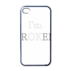 I Am Ok   Broken Apple Iphone 4 Case (black) by Valentinaart