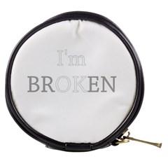 I Am Ok   Broken Mini Makeup Bags by Valentinaart