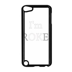 I Am Ok   Broken Apple Ipod Touch 5 Case (black) by Valentinaart