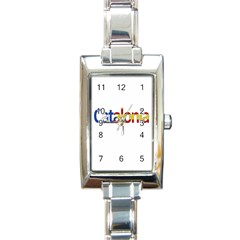 Catalonia Rectangle Italian Charm Watch by Valentinaart