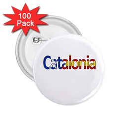 Catalonia 2 25  Buttons (100 Pack)  by Valentinaart