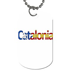 Catalonia Dog Tag (one Side) by Valentinaart