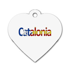 Catalonia Dog Tag Heart (two Sides) by Valentinaart