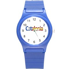 Catalonia Round Plastic Sport Watch (s) by Valentinaart