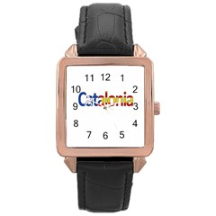 Catalonia Rose Gold Leather Watch  by Valentinaart