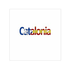 Catalonia Small Satin Scarf (square) by Valentinaart