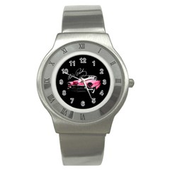 Elvis Presleys Pink Cadillac Stainless Steel Watch by Valentinaart