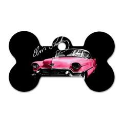 Elvis Presleys Pink Cadillac Dog Tag Bone (one Side) by Valentinaart