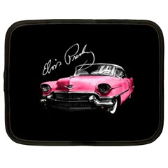 Elvis Presleys Pink Cadillac Netbook Case (xl)  by Valentinaart