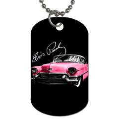 Elvis Presleys Pink Cadillac Dog Tag (two Sides) by Valentinaart