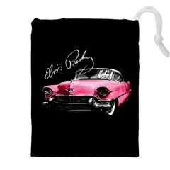 Elvis Presleys Pink Cadillac Drawstring Pouches (xxl) by Valentinaart